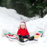 baby snow photography pendleton