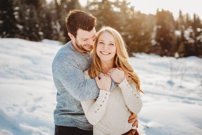 snow engagement session seattle
