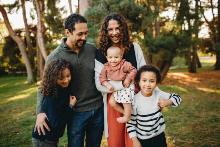 sunset greenlake family session seattle